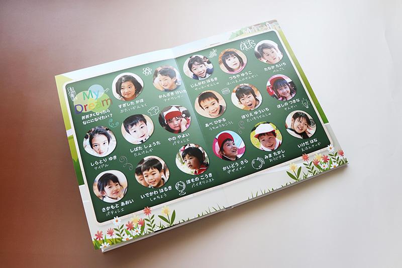 キッズドン!の卒園アルバム-ハードカバーフルフラットスタンダード1