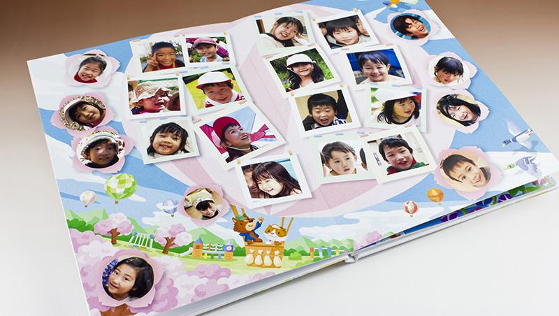 キッズドン!の卒園アルバム-ハードカバーフルフラットスタンダード8